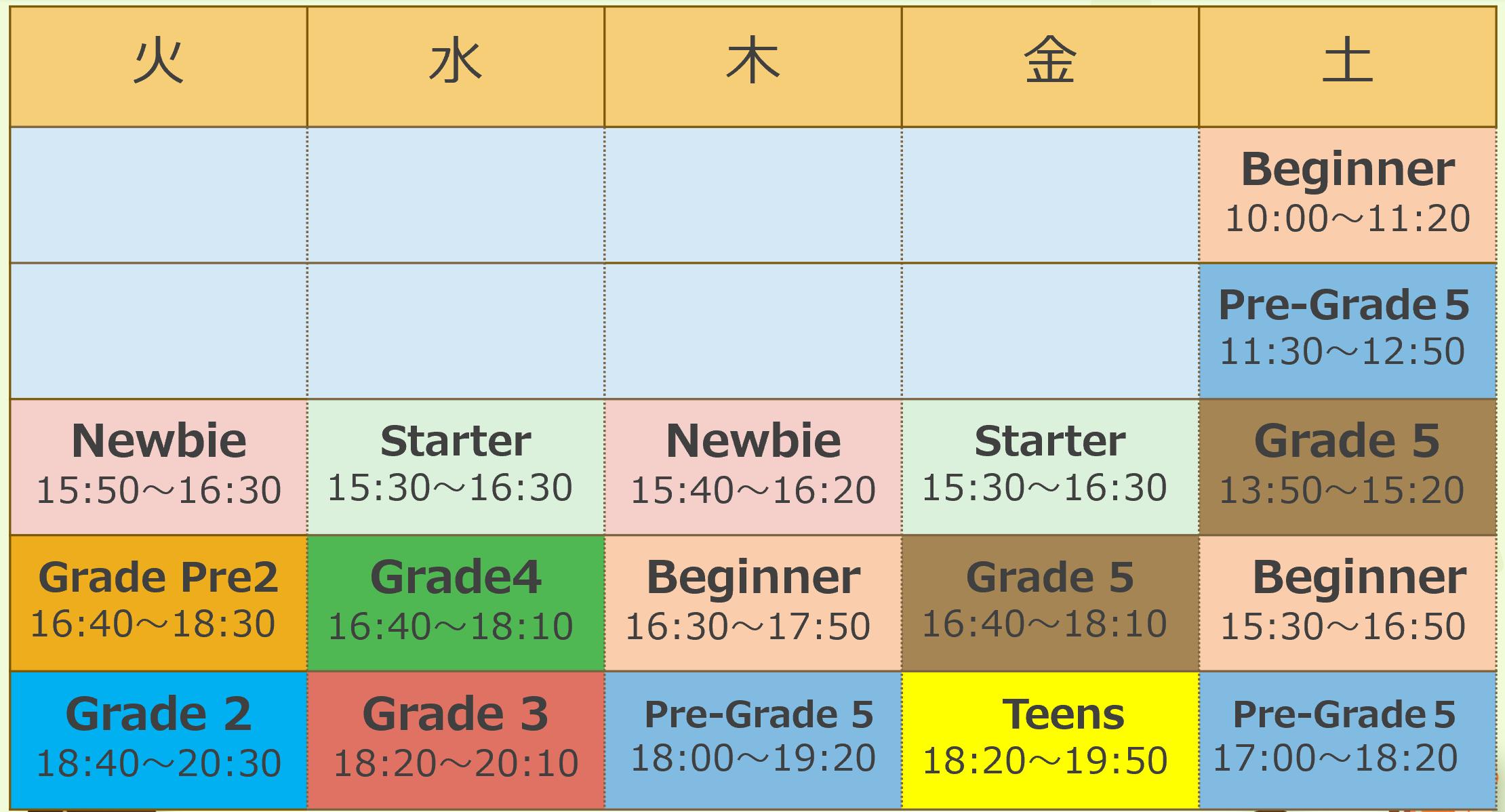 【発表!】西長堀校時間割・授業料